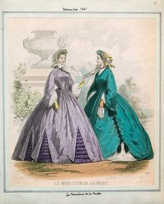 Le Moniteur de la Mode, November 1861.