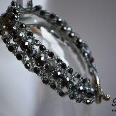 Flat spiral bracelet silver
