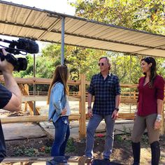 Fun filming our horse corral renovation today with our #horse expert, Thea.  #gidiup #Malibu #ZumaFarms #ScottYancey