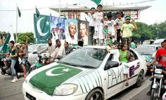 Pakistanis celebrating....