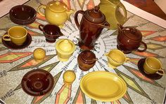 Vintage fiesta antique gold and amberstone