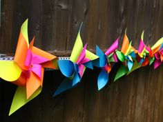 Pinwheel Banner by LaughingHour on Etsy, $32.99