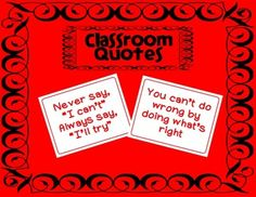 Classroom Quote Posters Free
