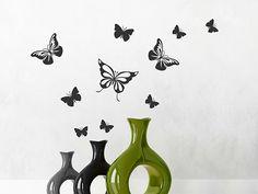 Lovely Dekorative Schmetterlinge buntes Set