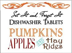 Set It & Forget It HAYRIDES APPLES and by YellowEpiphanies on Etsy