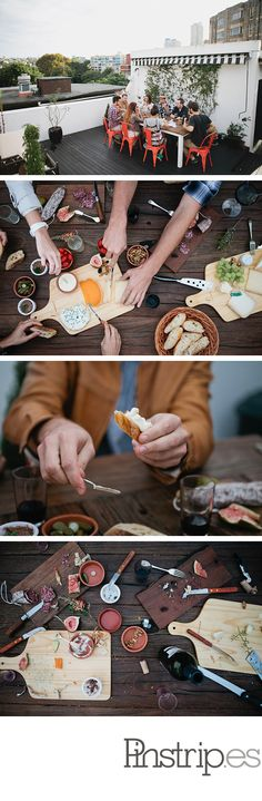 Hipster cheese party, from Kinfolk Magazine
