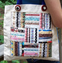 Selvage tote...pattern would also be cute as quilt