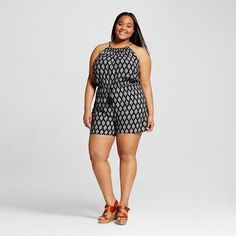 Women's Plus Size Strappy Romper - Mossimo Supply Co. (Juniors') ** You can find out more details at the link of the image.