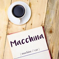 Parola del giorno / Word of the day: Macchina (machine/car). Hanno costruito una macchina complicata con semplici materiali domestici. = They built a complicated machine out of simple household materials. Learn more about this word and see example phrases by visiting our website! #italian #italiano #italianlanguage #italianlessons