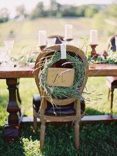 lavender wreath chair sign