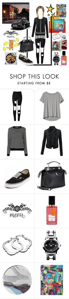 """""""THE GLOBE RESTAURANT BAR"""" by dixiemartel ❤ liked on Polyvore featuring WithChic, Gap, M.i.h Jeans, LE3NO, Vans, Fendi, Diana Vreeland, Nixon, Wolf & Moon and Chloé"""