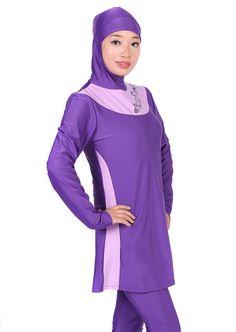 Women Muslim Swimsuit Islamic Full Cover Modest Swimwear Beachwear