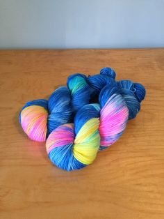 "Hand-Dyed Sock Yarn ""Out of the Blue"" Merino Wool Nylon Variegated 4 Ply Fingering Weight Yarn JuliannasFibre"