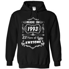 Made in 1993 2016 Version T-Shirts, Hoodies. Get It Now ==> https://www.sunfrog.com/Birth-Years/Made-in-1993--2016-Version-4437-Black-41145755-Hoodie.html?id=41382