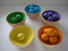 Sort And Count. Montessori Inspired Activity. Make DIY with ping pong balls & plastic bowls