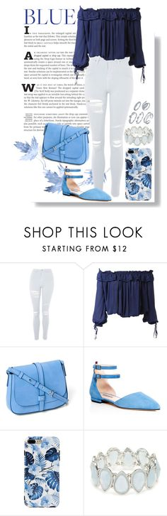 """""""Blue"""" by isis-anubis5 ❤ liked on Polyvore featuring Topshop, Dsquared2, Gap, SJP and Kim Rogers"""
