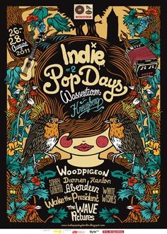 Indie Band Posters | In August we went to Berlin to play a festival called Indie Pop Days :