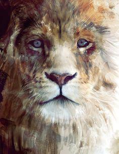 Lion // Majesty Stretched Canvas by Amy Hamilton | Society6 ($85.00) - Svpply