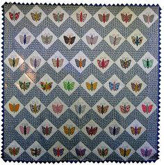 appliqued Butterfly quilt