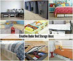 Creative Under Bed Storage Ideas #organize