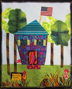 The House Quilt Project: Funky Patriotic House