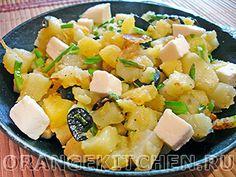 Вегетарианские рецепты с фото: картофель с кабачками и маслинами