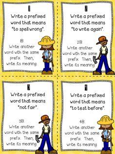 Prefixes and Suffixes Anchor Chart {plus FREE task cards! 2nd Grade Ela, 3rd Grade Writing, 5th Grade Reading, Guided Reading, Second Grade, Close Reading, Grade 3, Reading School, Reading Games