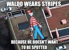 Waldo's shirt is more than a fashion statement. Wait. What? Mind = blown.