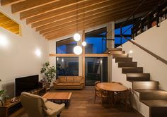 Roof and lights My Living Room, Home And Living, Living Spaces, Room Interior Design, Interior Decorating, Archi Design, Japanese Interior, Japanese House, Minimalist Home