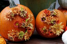 These creative house number pumpkins are a fun and festive addition to your fall decor. Get more DIY house number ideas here >> http://blog.diynetwork.com/maderemade/2015/08/17/diy-house-numbers/?soc=pinterest