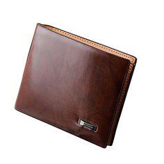 Sanwood Herren Kunstleder Bifold Brieftasche Kredit Karte Holder Handtasche Geldbeutel