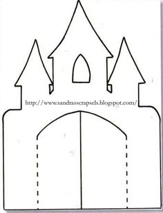Castle Stencil for lapbook Castle Crafts, Château Fort, Busy Book, Frozen Birthday, Kids Cards, Card Templates, Cardmaking, Coloring Pages, Colouring