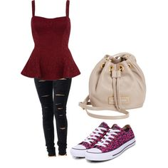 Polyvore Outfits for High School | fashion look from July 2013 featuring River Island tops, Converse ...