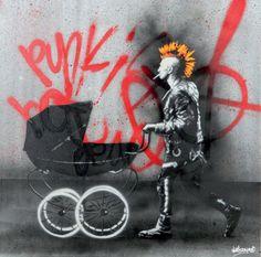 Lot : MARTIN WHATSON (Norvegien, né en 1984) - Punk's Not Dead...   Dans la vente Art Contemporain Urbain à Digard Auction