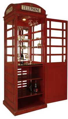 Telephone Booth Bar Cabinet from Maitland Smith