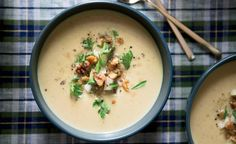 Creamy Parsnip Soup with Pear and Walnuts Recipe | http://aol.it/1zn6ZUb