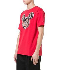 MARCELO BURLON COUNTY OF MILAN MARCELO BURLON MEN'S  RED COTTON T-SHIRT. #marceloburloncountyofmilan #cloth #