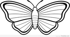 http://timykids.com/20-butterfly-outline-coloring-pages.html #Art, #Black, #Butterfly, #Outline, #White