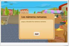 """""""Los números romanos"""" es un sencillo juego de """"librosvivos"""" S.M. en el que interpretar el valos de los números romanos que se indican."""