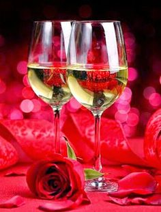 A Fine Romance - Red rose and white wine. Share a romantic moment with someone special. Wine Drinks, Alcoholic Drinks, White Wine, Red Wine, A Fine Romance, Wine Photography, Love Is In The Air, Romantic Moments, In Vino Veritas