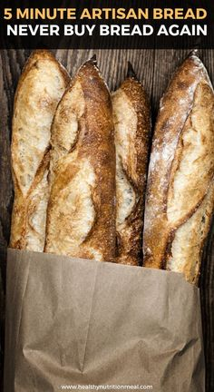 5 Minute Artisan Bread – Never Buy Bread Again - Cooking - Breads and Crackers - Bread Recipes Pain Artisanal, Bolo Youtube, Best Bread Recipe, Crusty Garlic Bread Recipe, Bread In A Bag Recipe, Think Food, Cooking Recipes, Healthy Recipes, Cheap Recipes