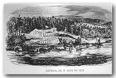 FORT ASTORIA - Two of the notable founders were Alexander MacKay, who had previously been with the North West Company, and Alexander Ross. Both men were Scottish Canadians. Mackay died in the 1811 battle with natives that destroyed the USS Tonquin off Vancouver Island. In 1813 Ross joined the North West Company from Canada after they acquired Fort Astoria.
