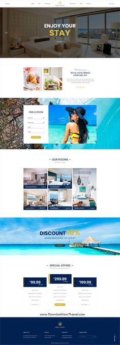 Aroly Hotel and Accommodation Booking PSD Template Hotel Website Templates, Hotel Website Design, Design Hotel, Web Design, Email Design, Modern Design, Graphic Design, Web Hotel, Modern Website