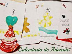 Reciclando con Erika : Calendario de Adviento hecho de papel