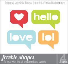 Free - Digital Die Cutting Shapes - tekaslittleblog.com