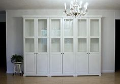 ikea bookcases for built ins look