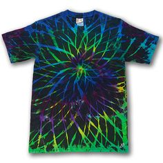 Tie Dye, 2Dye4, Small, Lime Spirograph, 100% Cotton Short Sleeve Hand Dyed T-Shirt