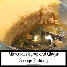 Microwave Syrup and Ginger Pudding- the classic golden syrup sponge dessert but with a zing of ginger. Microwave Baking, Microwave Recipes, Cooking Recipes, Ginger Pudding Recipe, Pudding Recipes, Hot Desserts, Dessert Recipes, Recipes Dinner, Desert Recipes