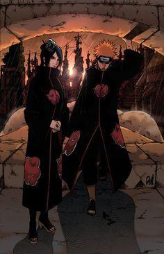 Naruto Couple of the year, Konan and Pein Kakashi Itachi, Sasori And Deidara, Hidan And Kakuzu, Naruto Uzumaki, Gaara, Anime Naruto, Naruto Fan Art, Naruto Funny, Manga Anime