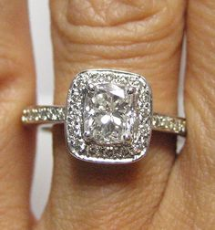 vintage cushion cut engagement ring....GORGEOUS!!!!